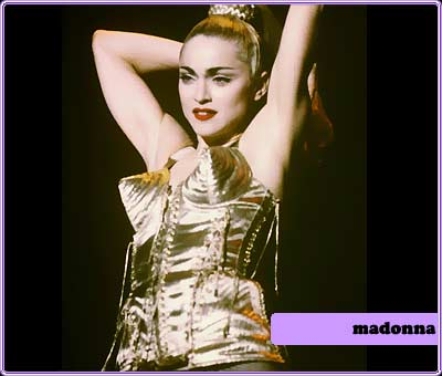 madonna in gaultier cone bra bbc.co.uk