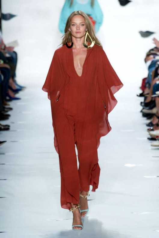 jumpsuit, flowy, red