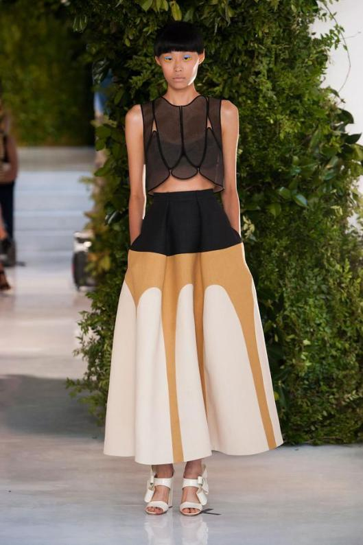 volume, skirt, delpozo s/s 2014