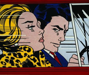 roy lichtenstein, in the car, '63