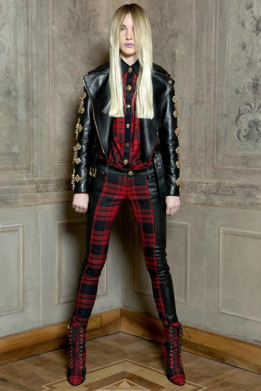 tartan wear fausto-puglisi-look-book-autumn-fall-winter-201310