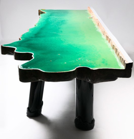 gaetano pesce, lake table, designboom.com02