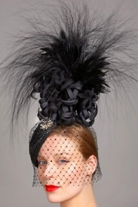 hallwyl palace, philip-treacy-black-embellished-headpiece