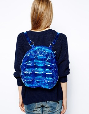 backpack isolated her blue bubble