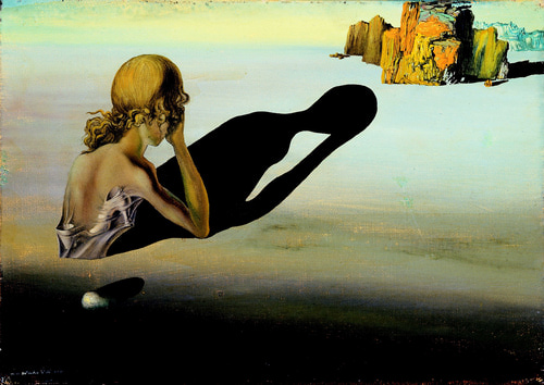 dali remorse or sphinx embedded in the sand 1931