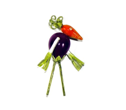 jewel cilea vegetable man brooch