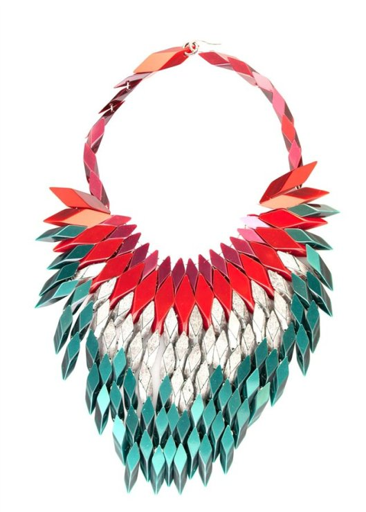 jewellery silvia rossigioielli arcrylic necklace