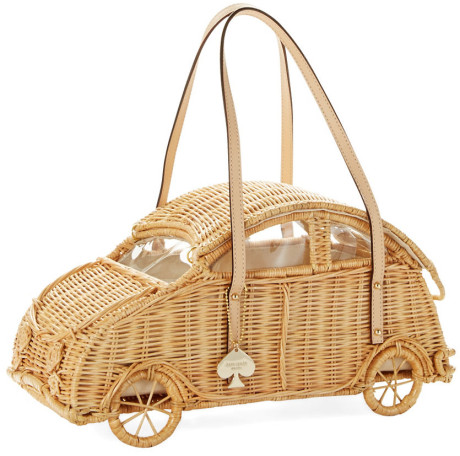 k spade mainline wicker car bag lyst.com