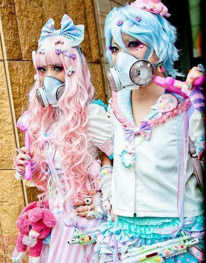 meapp dict entry cybergoth harajuku girls, tokyo