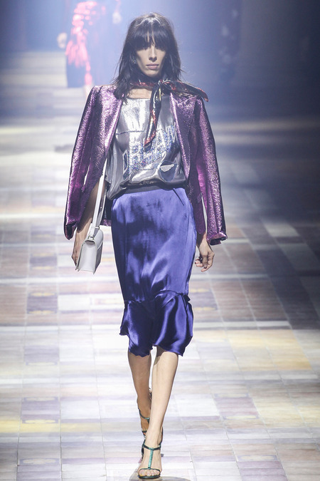 shiny clothes lanvin purple jacket