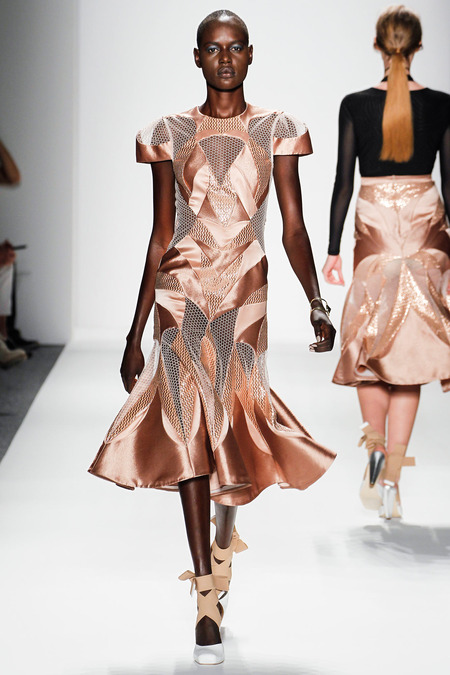 shiny copper cutout mesh dress from zimmerman cosmopolitan.com