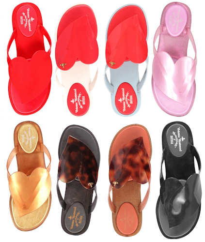 summer rubber sandals from designer-shoes.me.ukVivienne-Westwood-Melissa-Heart-Flip-Flops