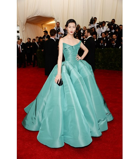 met ball 2014 Liu wen in zac posen