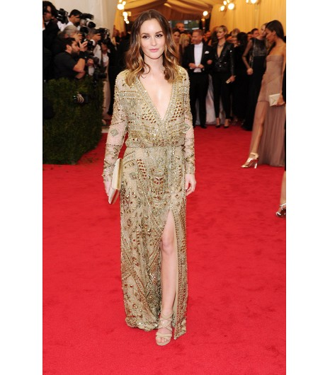met ball emilio pucci f_w_ 14 gold embroidered tulle leighton meester