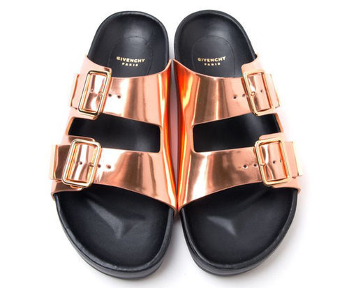 summer sandals copper sliders givenchy