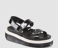 summer sandals drmartens patent black