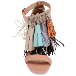 summer sandals MSGM fringe front view polyvoreimg-thing
