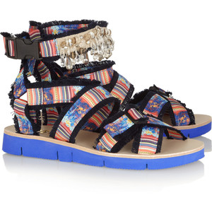 summer sandals MSGM fringe polyvoreimg-thing