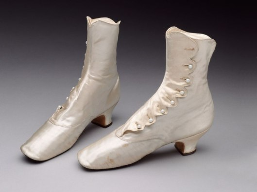 Vand A silk:satin boots 1880© from vanityfair.com