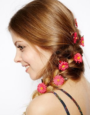 hair garladn flower clips asosimage1xl