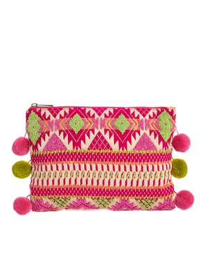 handbag clutch pompom asosimage1xl