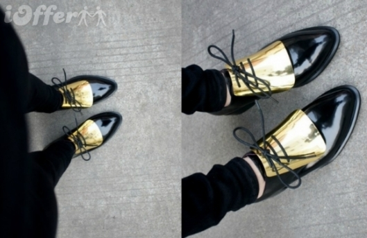 metalic_leather boruge ioffer.com957-34-genuine-leather-gold-plate-oxford-flat-shoes-b9e3