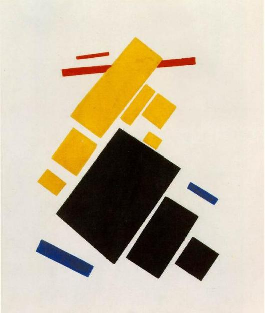 malevich areoplane flying from artinthe picture.com suprematist