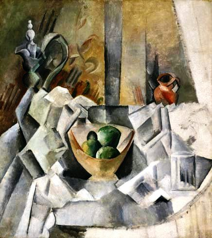 PicassoPainting carafe jug and fruit bowl 1909 from tellcliffcom