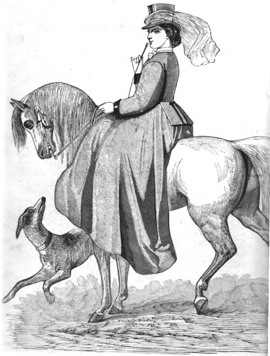 riding costume woman from historicaltidbits1862 fashions.23 riding habit