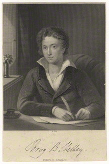 NPG D6851; Percy Bysshe Shelley by William Holl Sr, or by  William Holl Jr, after  Amelia Curran