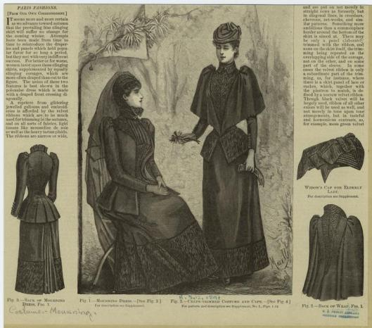 mourning attire, edwardian ladies mourning suit, nypl.orgindex.php