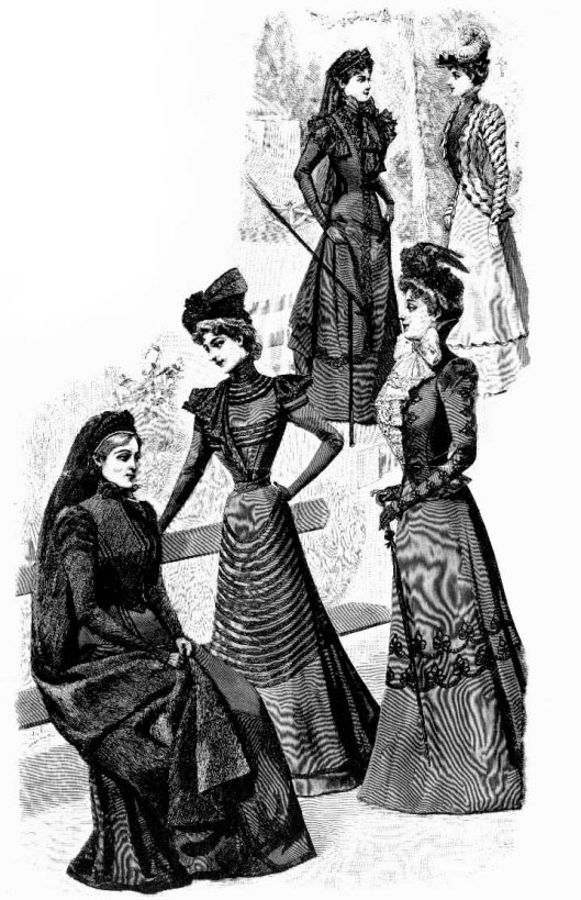 mourning women's wear, victorian, different looks