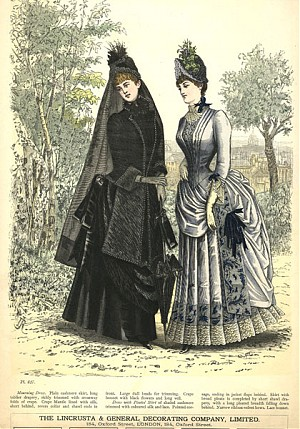 mourning attire, victorian, half mourning, grey