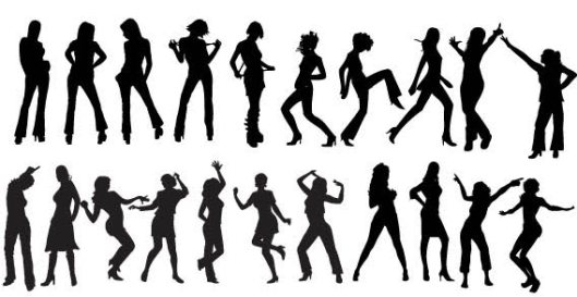 people dancing freevectorzone_girls-silhouettes-free-vector