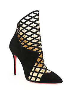 shoes christian louboutin suede cage ankle boots 0452502455565_247x329