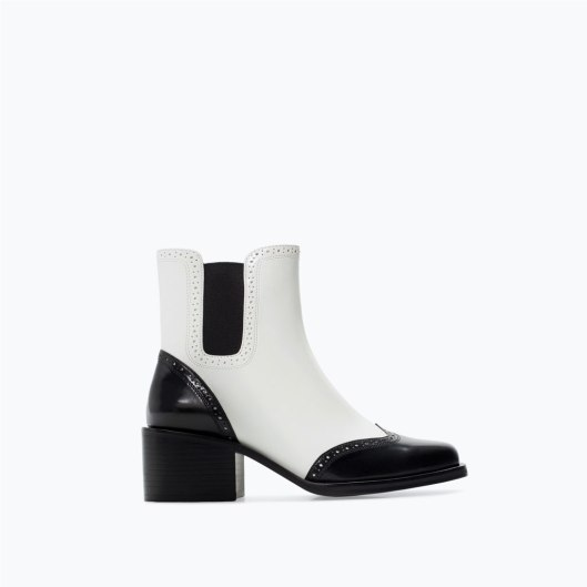 accessories a14, ankle boots, two tone zara 7104301001_1_1_1