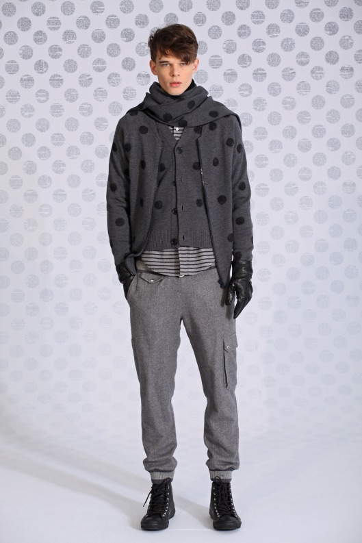 menswear, sweater/scarf combo, Band of Outsiders