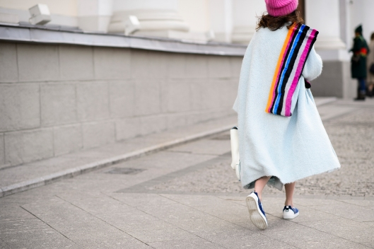 stripped scarf, colour photo by Adam Katz Sinding