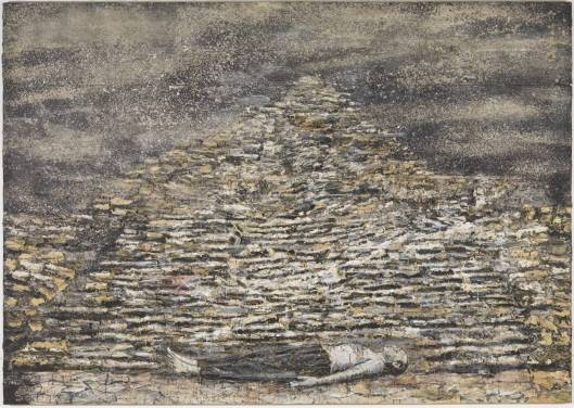 anselm kiefer, man under a pyramid, 1999