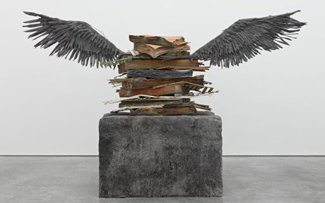 anselm kiefer, sprache der vogel, entrance to exhibit, RAA 2014