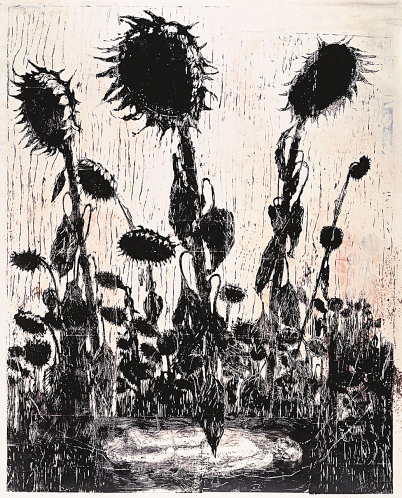 anselm kiefer, sunflowers, 1996