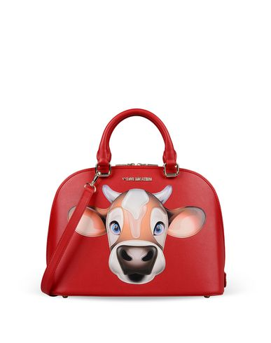 fun bag, moschino, cow