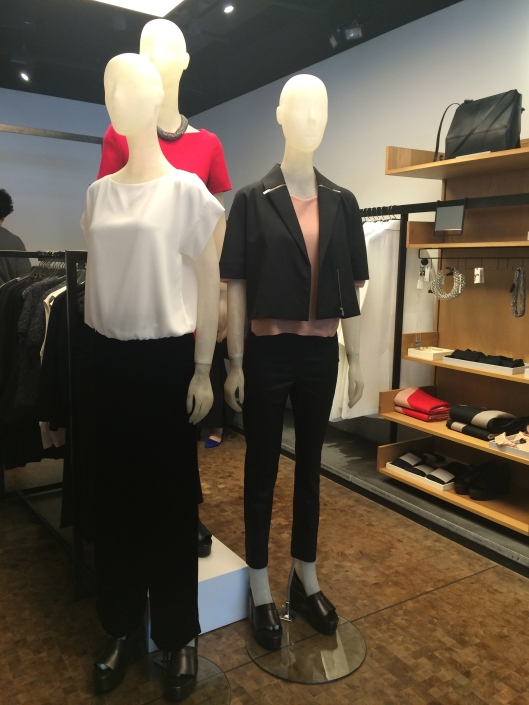 mannequin display, COS, translucnet forms