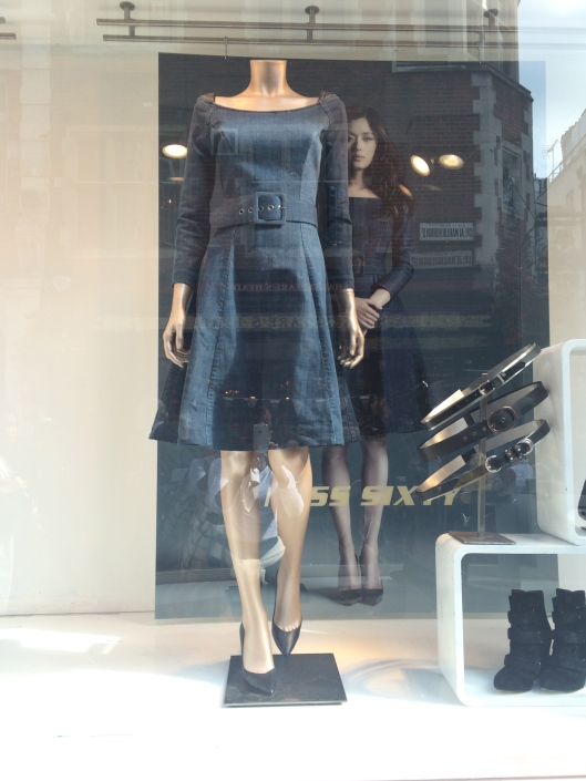 mannequin, Miss Sixty, headless, photo of woman wearing display dress