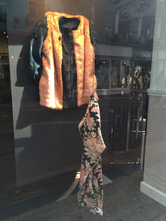 mannequin, window display, hanger/hook, scotch and soda