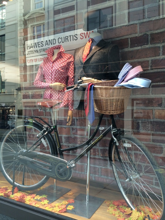 mannequin, hawkes and curtis, headless, from chest up, with props - bike