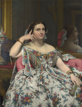 ingres painting, designer eddy anemain inspiration-madame-moitessier, nationalgallery.org.uk NG4821-fm