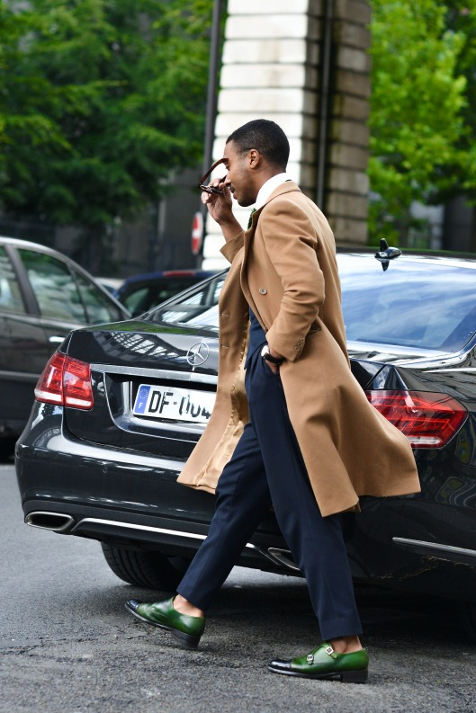 menswear, camel coat