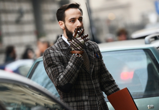 accessories, plaid gloves, from GQ