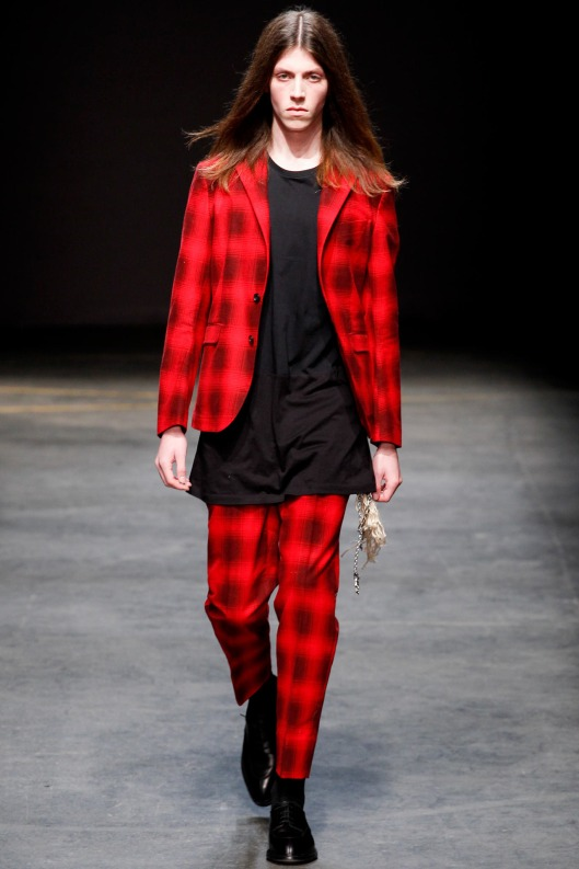 jacket, suit,  red/black checkered, casely hayford